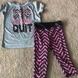 Kids 4/5 Reebok dry fit outfit